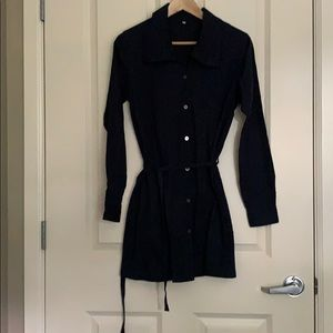 Muji shirt dress in navy